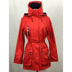 NWOT Henri Lloyd Red Long Rain Anorak Coat